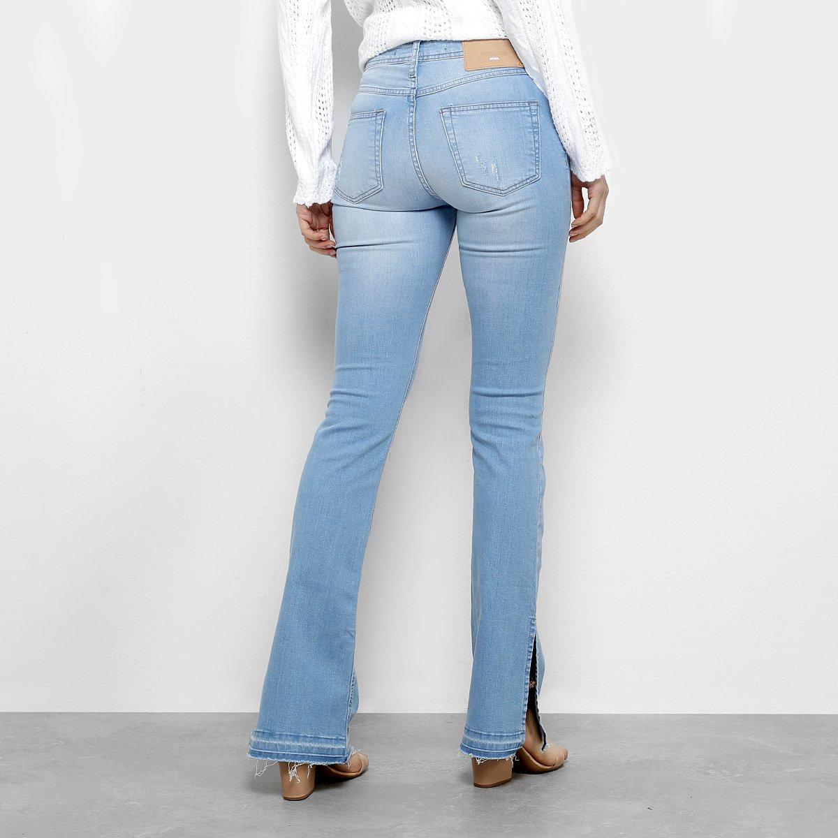 1c89b0006 ... Foto 2 - Calça Jeans Flare Forum Estonada Cintura Média Feminina
