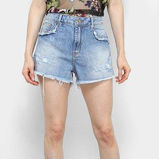 82433c26e Short Jeans Forum Estonado Cintura Alta Feminino