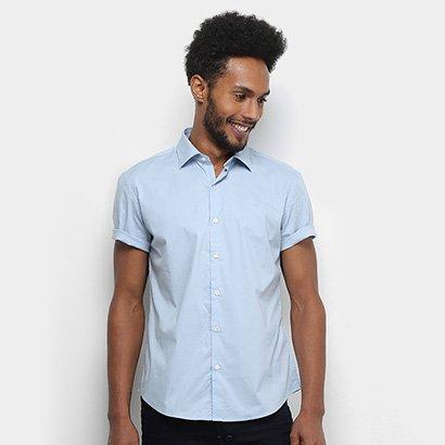 Camisa Manga Curta Ellus Tricoline Masculina