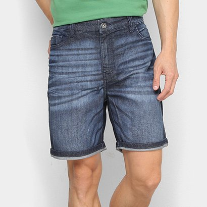 Shorts Jeans Ellus Estonado Barra Dobrada Masculino