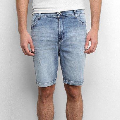 Bermuda Jeans Ellus Puídos Masculina