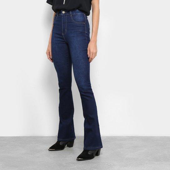 f188332d3 Calça Jeans Flare Sawary Estonada Cintura Média Super Lipo Feminina - Azul