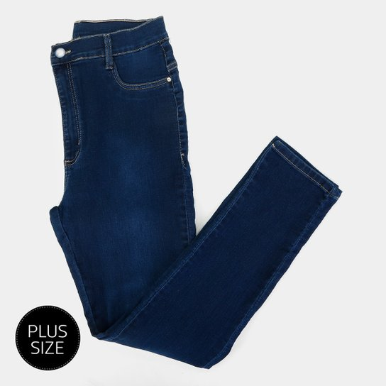 3b5b2b3e73 Calça Jeans Sawary Cigarrete Plus Size Feminina - Azul - Compre ...