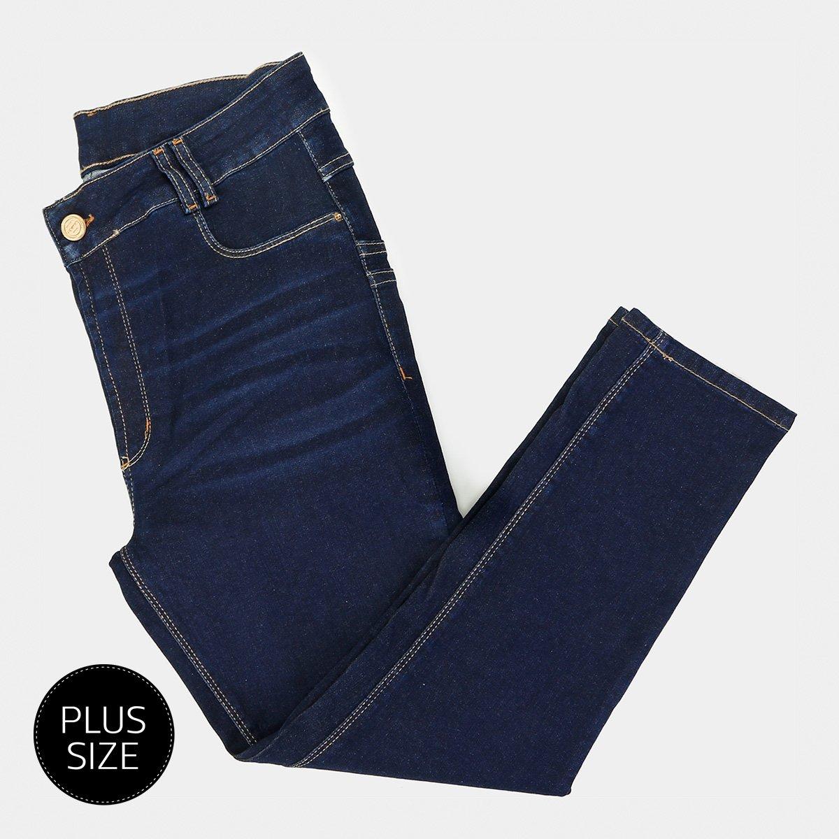 f70e723de Calça Jeans Sawary Skinny Cropped Plus Size Feminina - Tam: 54 - ...