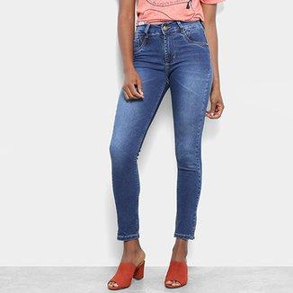 918679312d Calça Jeans Cigarrete Sawary Estonada Cintura Média Feminina