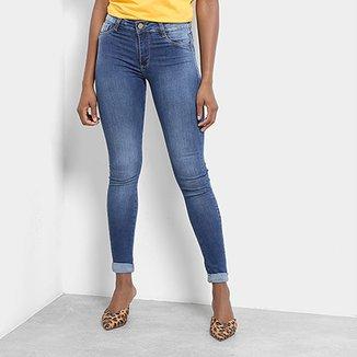7fd574602 Calça Jeans Cigarrete Sawary Estonada Push Up Cintura Alta Feminina