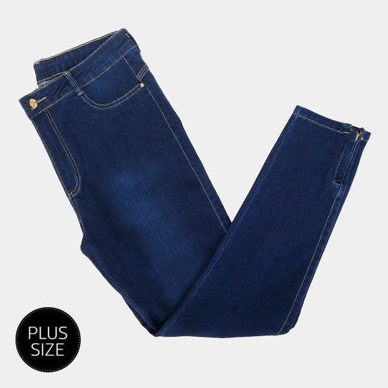 660cba6867 Calça Jeans Plus Size Sawary Cigarrete Feminina - Azul - Compre ...