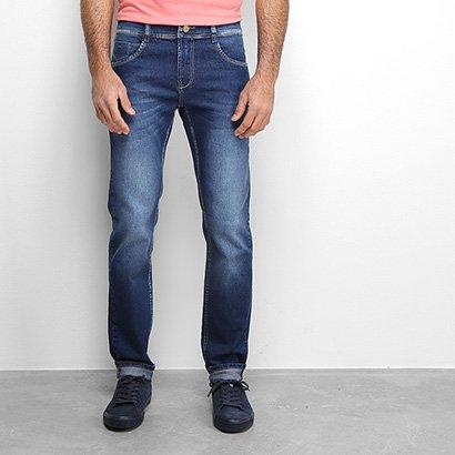 Calça Jeans Slim Sawary Comfort Estonada Masculina