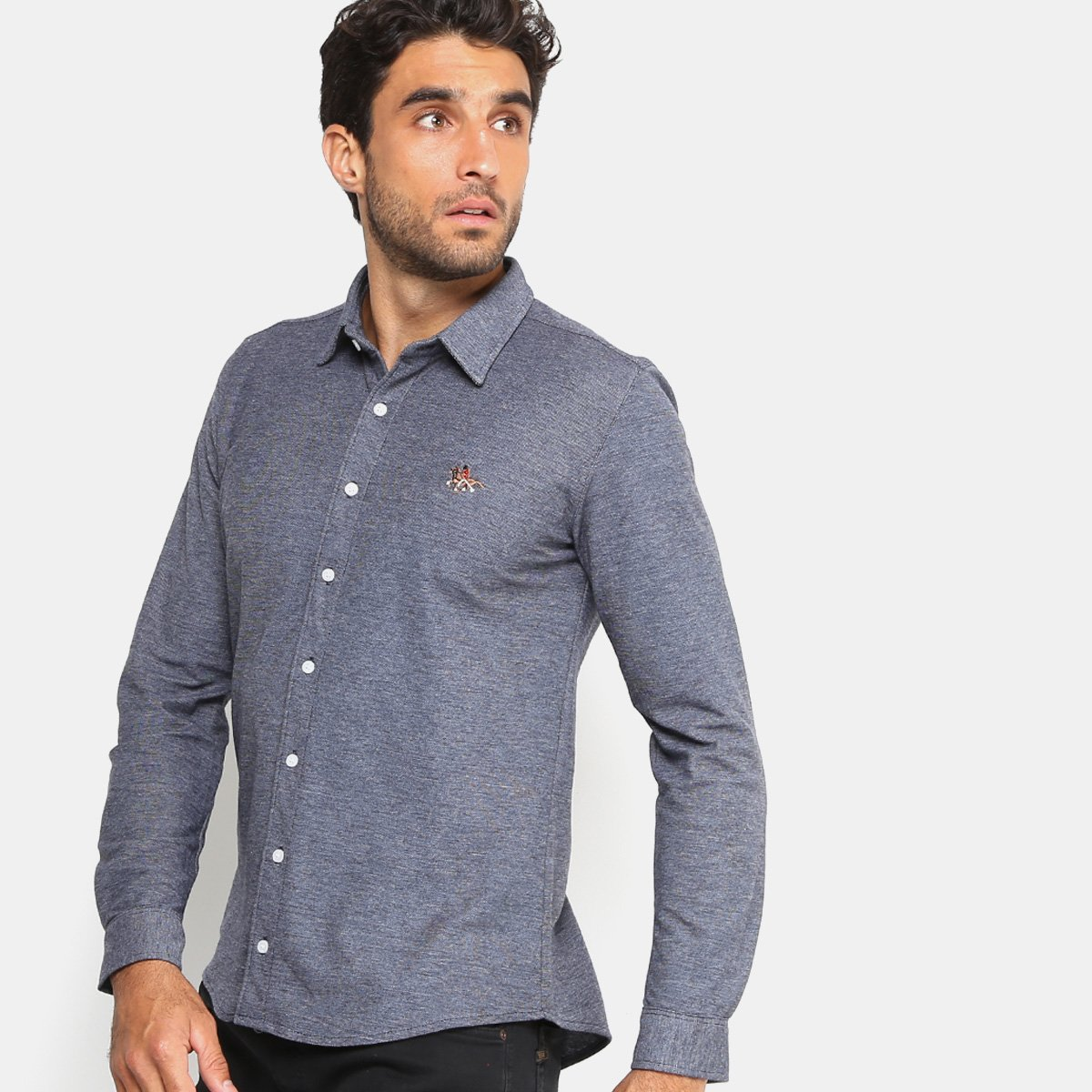 76a3e12298 Camisa RG 518 Bordado Malha Masculina - Tam: P - Shopping TudoAzul