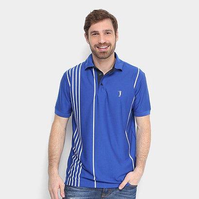 Camisa Polo Aleatory Malha Estampada Masculina