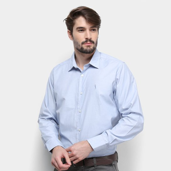 e51fcc0986802 Camisa Aleatory Slim Fit Masculina - Azul   Netshoes