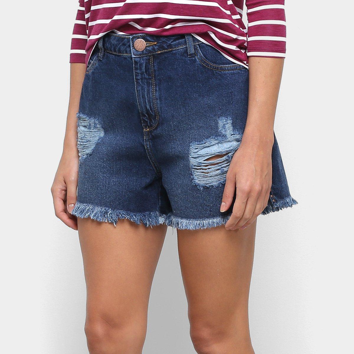 Short Jeans Malwee Comfort Feminino - Tam: 38