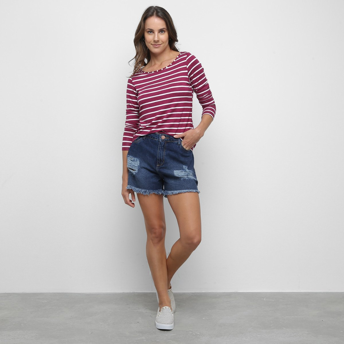 Short Jeans Malwee Comfort Feminino - Tam: 38 - 2