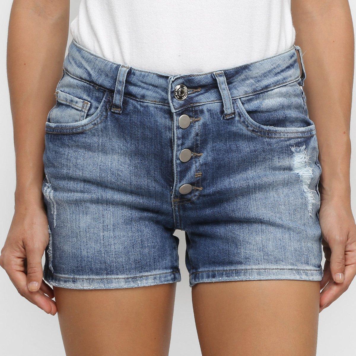 Foto 1 - Short Jeans Malwee Comfort Feminino