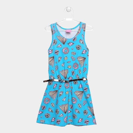 Vestido Infantil Kamylus Estampado Feminino - Compre Agora  efb1c59105d