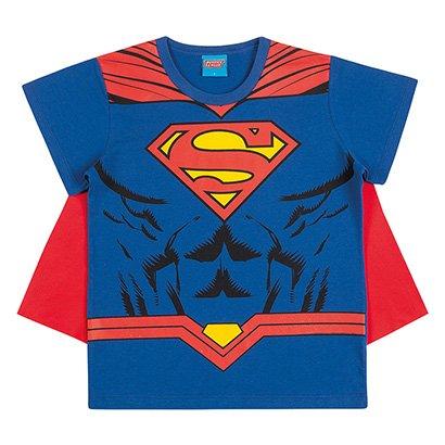 Camiseta Infantil Kamylus Superman + Capa