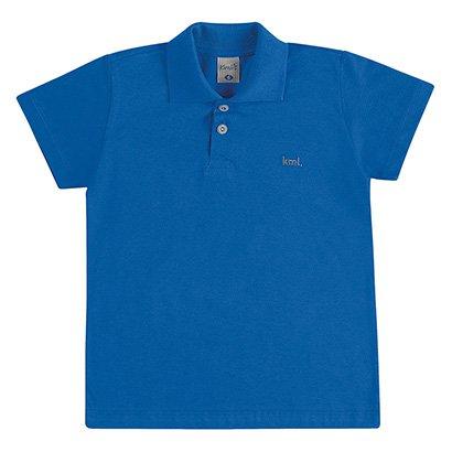 Camisa Polo Infantil Kamylus Básica Meia Malha Masculina