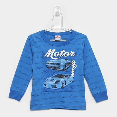 Camiseta Infantil Brandili Manga Longa Motor Show Masculina