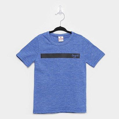 Camiseta Infantil Brandili Malha Flamê Masculina
