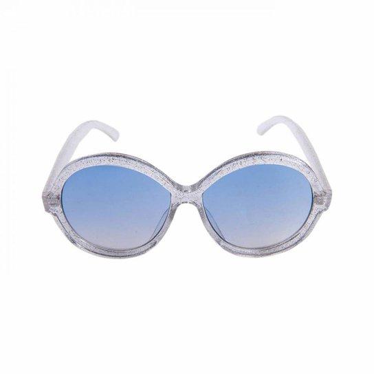 01456e286cc3b Óculos Marielas Redondo Love Transparente Feminino - Azul - Compre ...