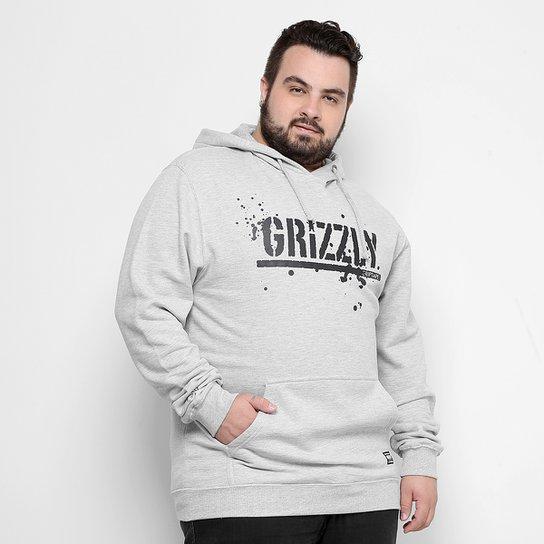 238cc744953d8c Moletom Grizzly Plus Size Og Stamp Splatter Hoodie Masculino - Mescla