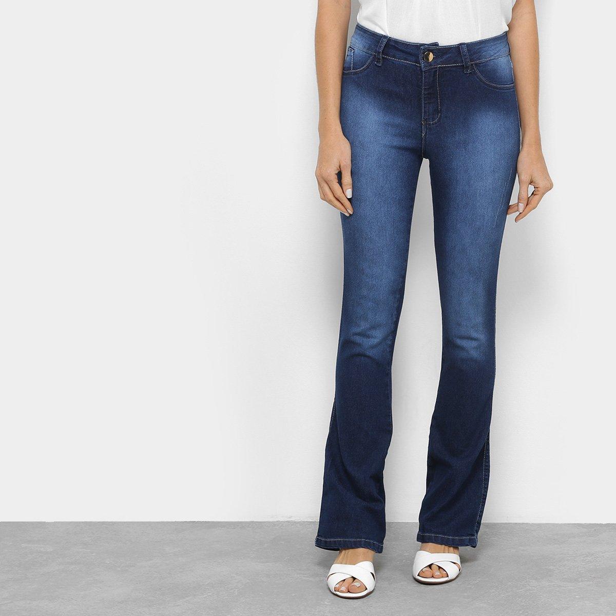 3752d8a8a ... Jeans Flare Coffee Estonada Feminina