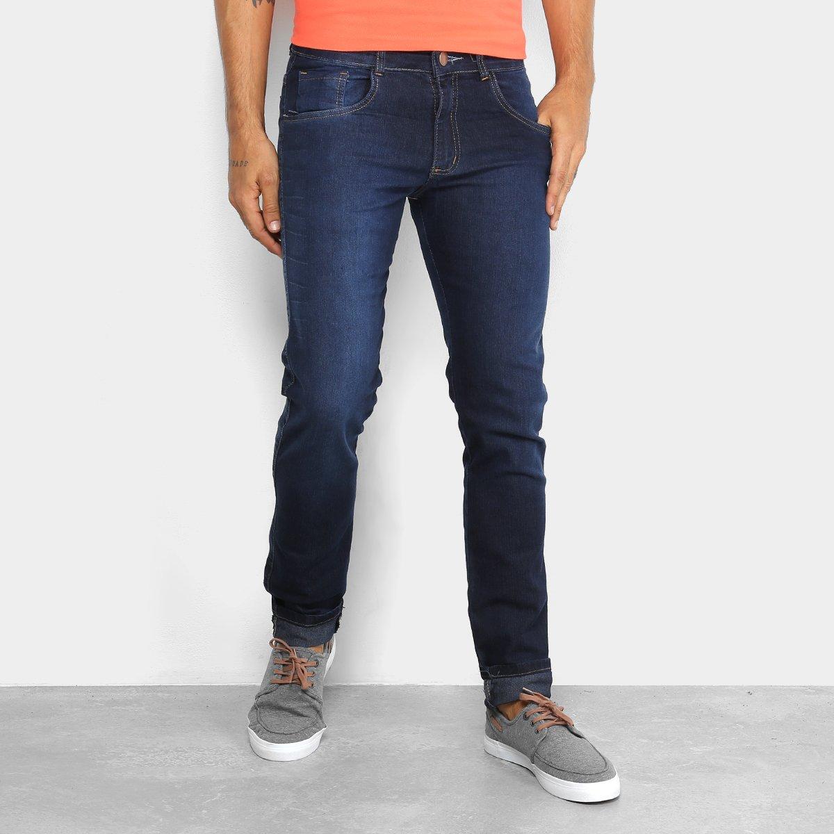 d7e0272d6 Calça Jeans Skinny Coffee Marmorizada Masculina