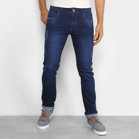 Calça Jeans Coffee Amaciada Skinny Masculina - Azul - Compre Agora ... 7d0dd0f0de953