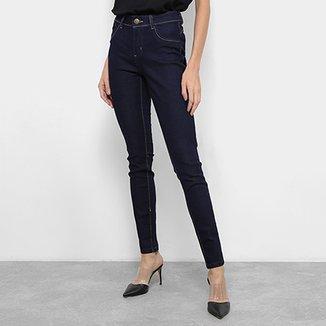 429100fd5 Calça Jeans Skinny Coffee Cintura Média Feminina