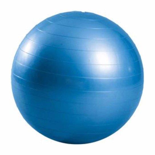 Bola Suiça Liveup Pilates Yoga Ginástica 65 cm e DVD - Azul - Compre ... c53e3b88e8653