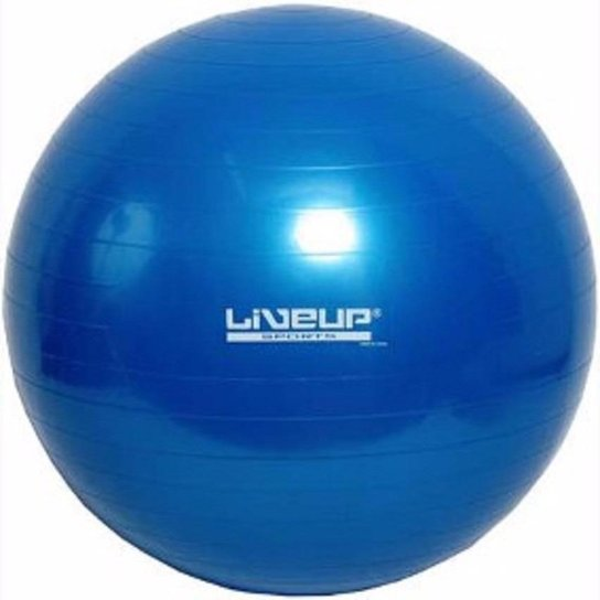 Bola Suiça Liveup Pilates Yoga Ginástica 75 cm e DVD - Azul - Compre ... ff88a53d2f147