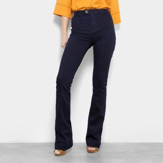 424d1a1e0 Calça Jeans Flare Dimy Cintura Alta Feminina - Azul Escuro