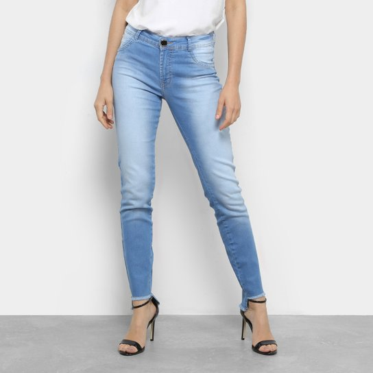 678353152 Calça Jeans Cigarrete Dimy Cintura Média Feminina | Netshoes