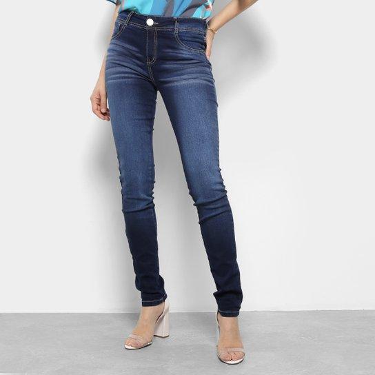 15ff970ec5 Calça Jeans Skinny Dimy Estonada Cintura Média Feminina   Netshoes