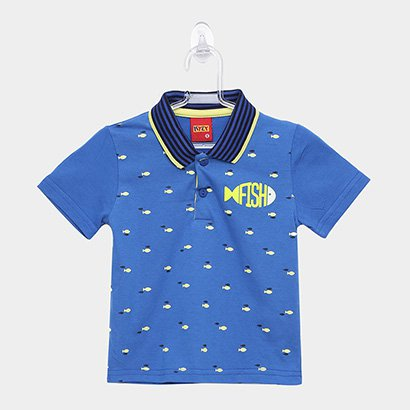 Camisa Polo Infantil Kyly Fish Masculina