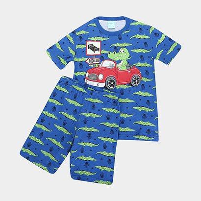 Pijama Infantil Kyly Carro Brilha No Escuro Masculino