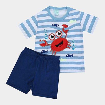 Pijama Infantil Kyly Caranguejo Fluorescente Masculino