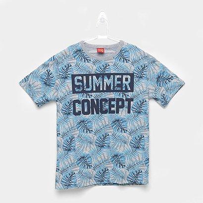 Camiseta Infantil Kyly Folhagem Summer Concept Masculina
