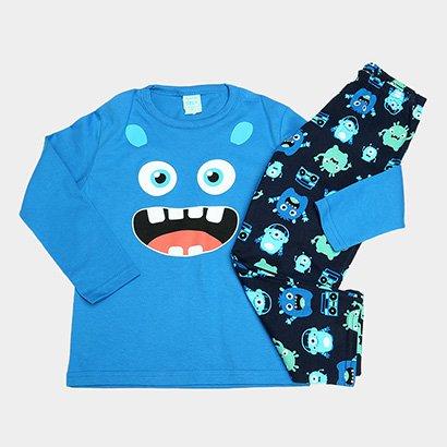 Pijama Infantil Kyly Monstrinhos Brilha No Escuro