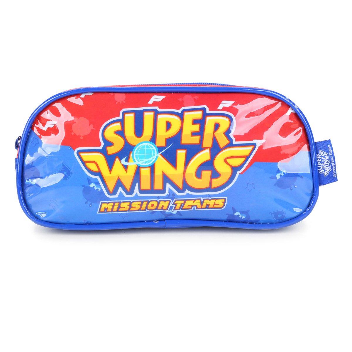 Estojo Escolar Luxcel Super Wings Masculino