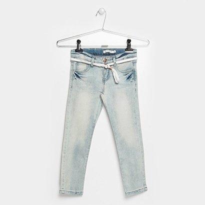 Calça Jeans Infantil Lilica Ripilica Cinto
