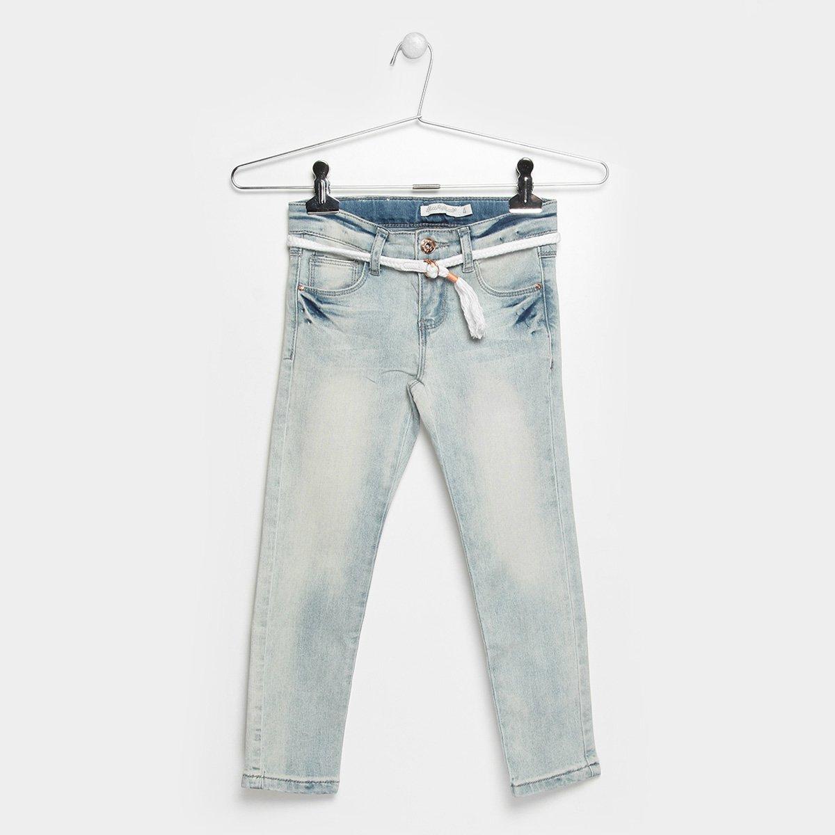 52ec1fb8b1 Calça Jeans Infantil Lilica Ripilica Cinto