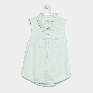 737b8f63a2 Camisa Jeans Infantil Lilica Ripilica Bolsos Feminina