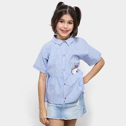 Camisa Infantil Lilica Ripilica Listrado Feminina
