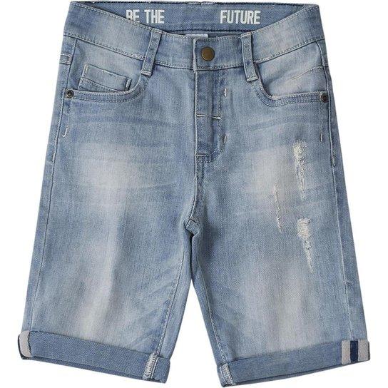 1eba2cc6d Bermuda Jeans Infantil Tigor T Tigre Masculino Azul Compre