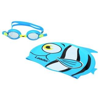 60f90949ade41 Kit Leader Óculos+Touca Natação Infantil