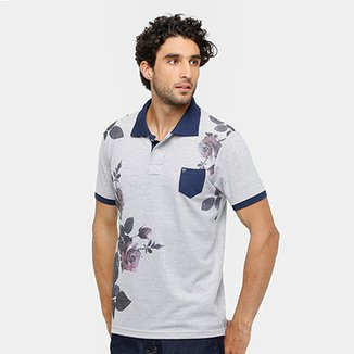 455e6b4e040 Camisa Polo Local Piquet Roses Bolso Masculina