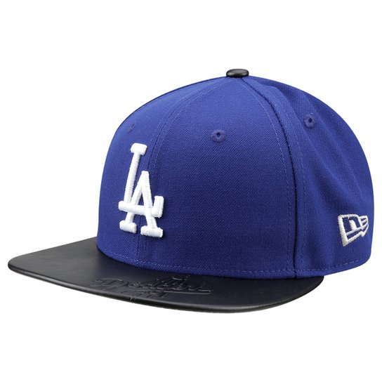 5e836edda Boné New Era MLB 5950 Leather Stamped Los Angeles Dodgers - Compre ...
