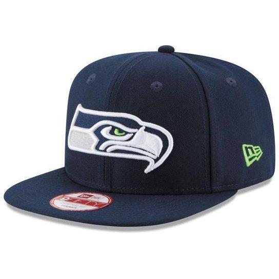 8303405527e76 Boné New Era Seattle Seahawks Campeão SuperBowl 950 Snapback - Azul