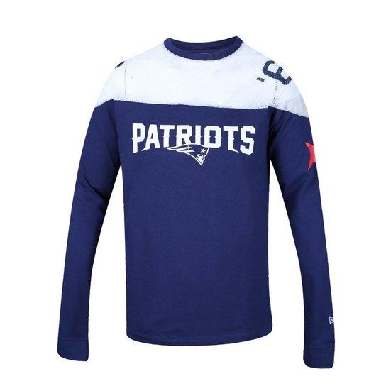 5880e0b92d4 Camiseta Manga Longa New England Patriots Estrelas - New Era - Azul